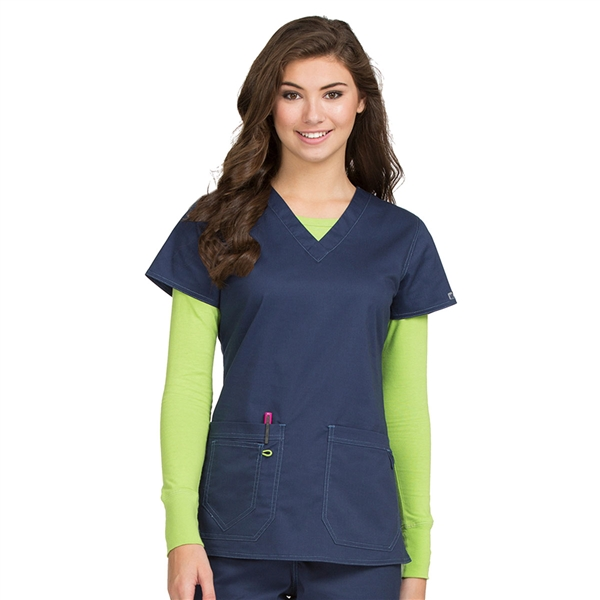 Med Couture Mc2 Olivia Top In Navy Medcouture Scrub Shop